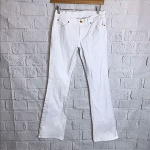 7 For All Mankind White Jeans
